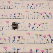 Pastel Poppies 100% Cotton Fabric